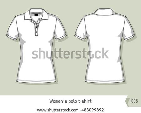 Women Polo Tshirt Template Design Easily Stock Vector HD (Royalty ...