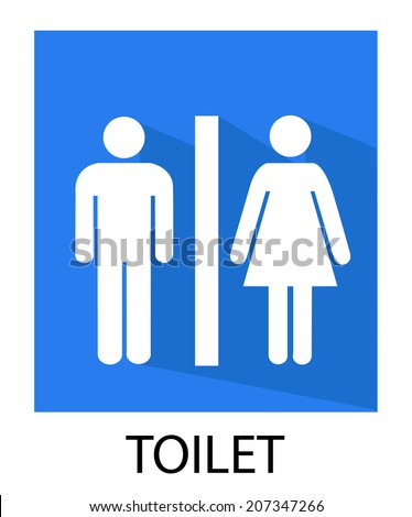 Women's and Men's Toilets  - stock vector