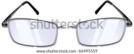 Women's Glasses. Isolated on white background