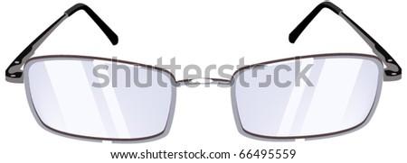 Women's Glasses. Isolated on white background - stock vector