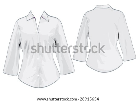Women's shirt template