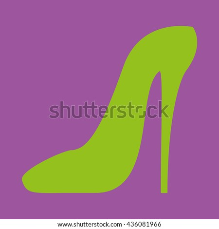 Women shoe high heel Icon - stock vector