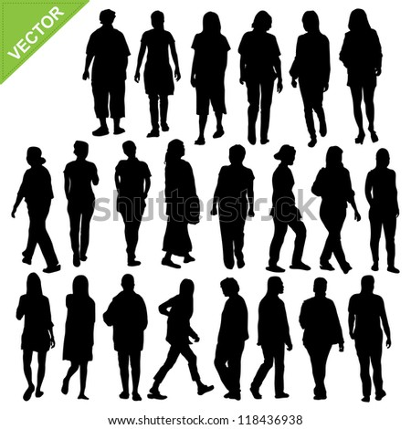 Women silhouette vector