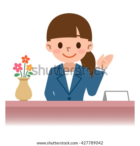 Women to guide - stock vector