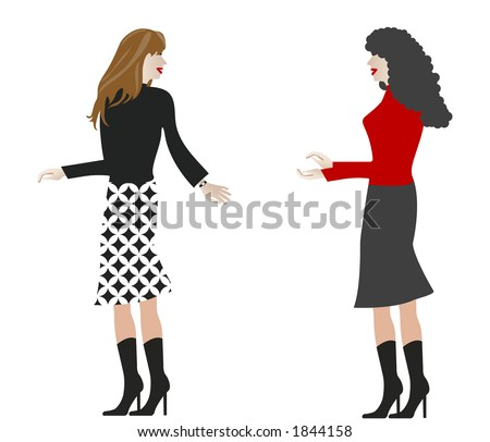 women   -  use together or isolated - stock vector