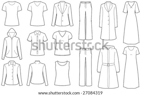 Womens clothes isolated - stock vector