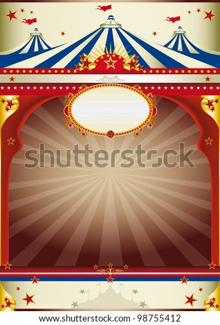 wonderful circus vintage background. An old style poster for your advertising. - stock vector