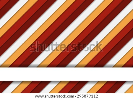 Wonderful colorful striped background in warm colors and one text stripe - for your poster, card, brochure, etc. - stock vector
