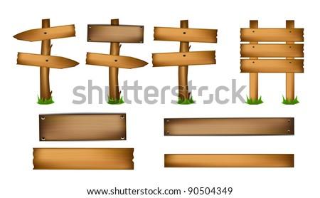 Wood Design Elements - stock vector