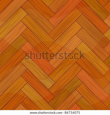 wood parquet floor seamless - stock vector