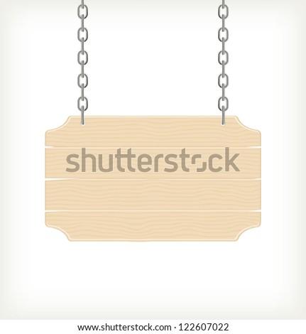 Wood sign, vector - stock vector