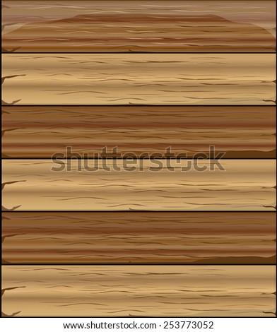 Wood texture illustration - stock vector