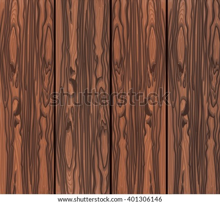 Wood texture template. Vector illustration. Brown wood - stock vector