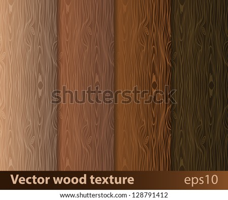 Wood texture vector background - stock vector