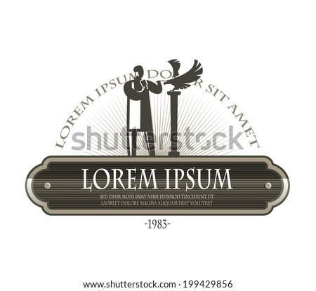 Woodcarver. Vector format - stock vector