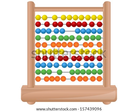 Wooden abacus - stock vector