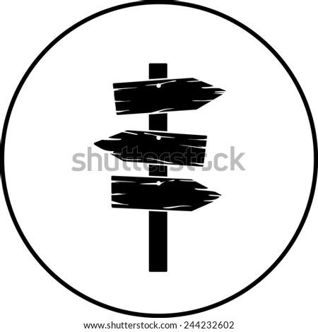 wooden arrow signs symbol - stock vector