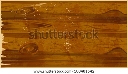 Wooden background. All elements and textures are individual objects. Vector illustration scale to any size. Eps 10