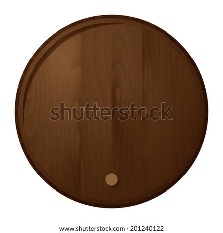 Wooden barrel. Vector illustration - stock vector