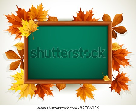 wooden blackboard - stock vector