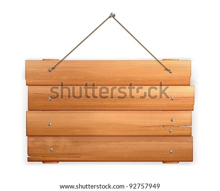Wooden board, 10eps - stock vector