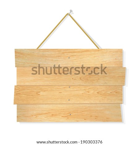 Wooden Board, With Gradient Mesh, Vector Illustration - stock vector