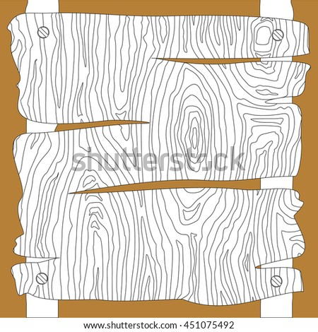 wooden boards signs vector illustration - stock vector