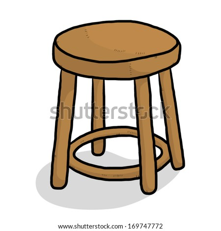 Wooden Chair Cartoon Vector And Illustration Isolated