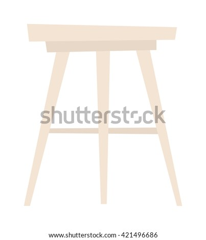 Wooden chair isolated on white background and chair isolated vector. Chair isolated furniture design and wooden chair isolated. Chair isolated comfortable decor interior elegance armchair. - stock vector