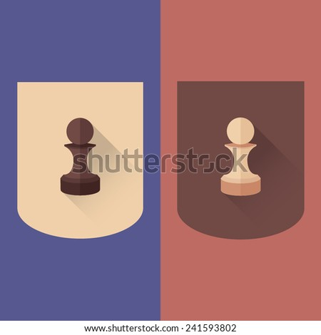 Wooden chess pawn vector - stock vector