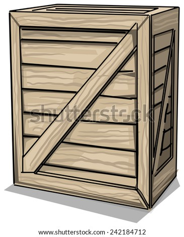 wooden crate, vector illustration