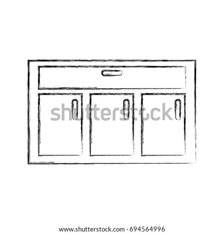 Chest Drawers Vector Sketch Icon Isolated 스톡 벡터 433247311 - Shutterstock