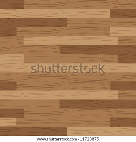 Wooden flooring running in a horizontal direction in brown - stock vector