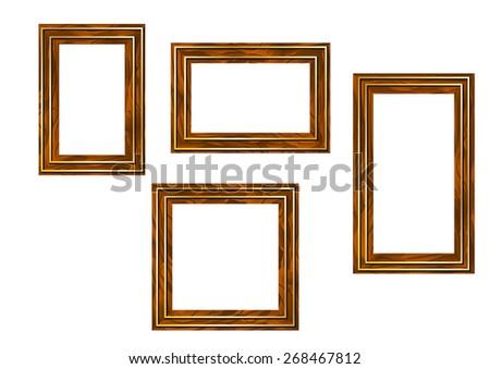 wooden frames - stock vector