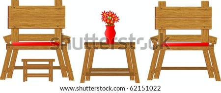 Wooden Furniture and see gallery for matching items - stock vector