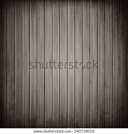 Wooden grey plank background. Realistic wood texture.Vector illustration.