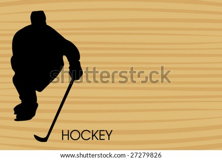 wooden hockey background - stock vector