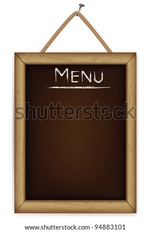 wooden menu board.vector - stock vector
