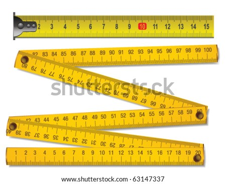 wooden meter and tape measure