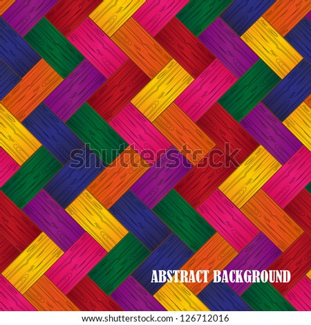 Wooden Parquet Background, Seamless Pattern - Vector Illustration, Graphic Design Useful For Your Design - stock vector