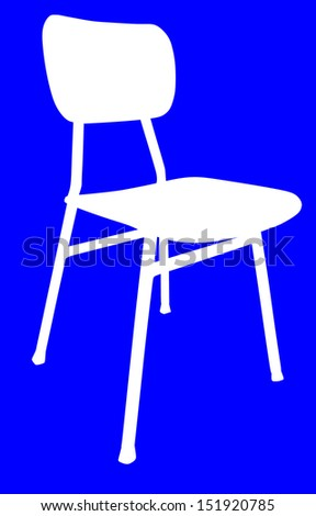 wooden school chair white silhouette used stock vector 151920785
