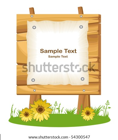 Wooden sign - stock vector