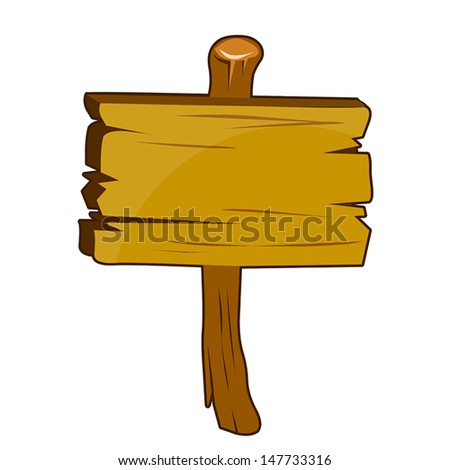 Wooden signs  isolated illustration on white background - stock vector