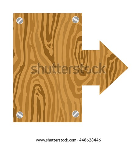 Wooden signs set. Vector Illustration - stock vector