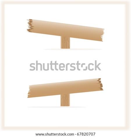 Wooden signs, vector illustration, eps10 - stock vector