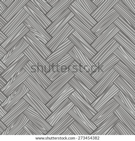 Wooden striped textured parquet background. Seamless pattern. Vector. - stock vector