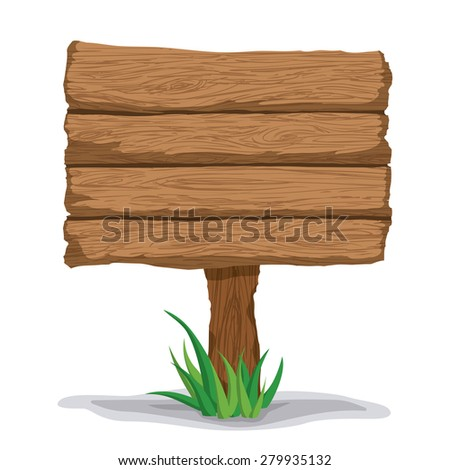 Wooden texture and objects design, vector illustration. - stock vector