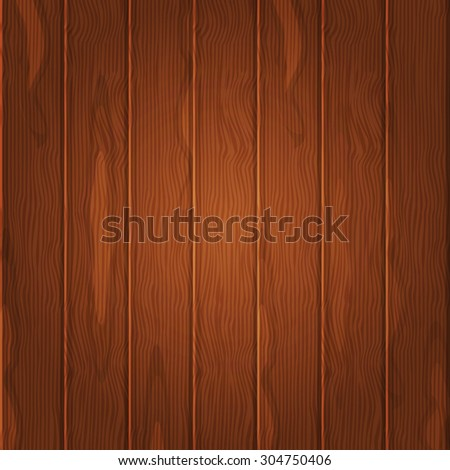 Wooden texture background brown colored. Perfect for backdrops and wallpapers, mocups. Fully editable vector illustration. - stock vector