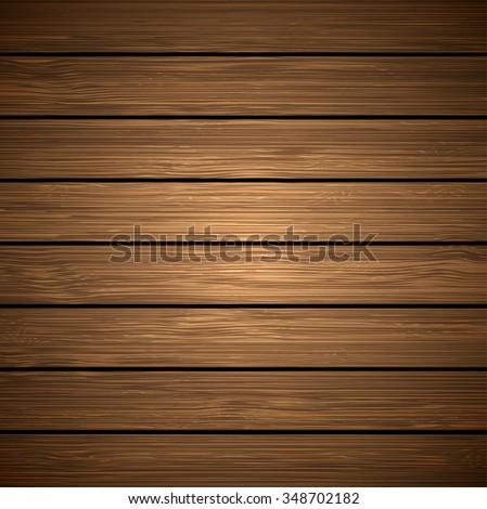 Wooden texture, empty wood background - stock vector