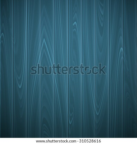 Wooden texture of blue color,  vector illustration EPS 10 - stock vector